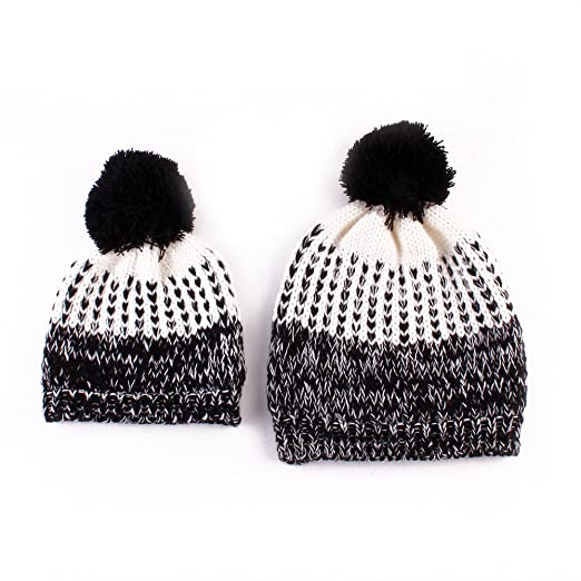Image Unavailable. Image not available for. Color  auguswu 2PCS Parent-Child  Hat Warmer ... ebb78f3b8ec2