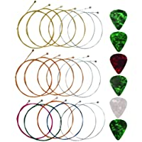 Yookat Acoustic Guitar Strings with 6 Picks, 3 Sets of 6 Acoustic Guitar Kit Guitar Strings Steel String For Beginners…