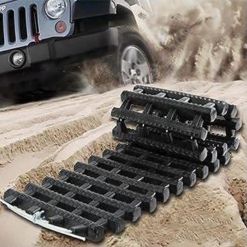 2 pieces Non-Slip Mats Winter Roads Instant Traction Tire Grip Set Snow Mud