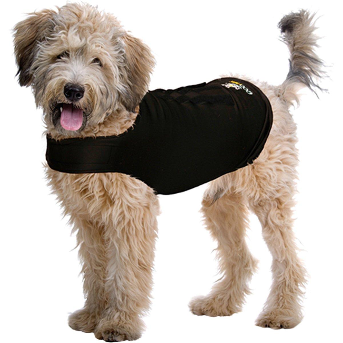 Black Large Black Large ZenPet ZenDog Anxiety Dog Vest Calming Compression Shirt, Large