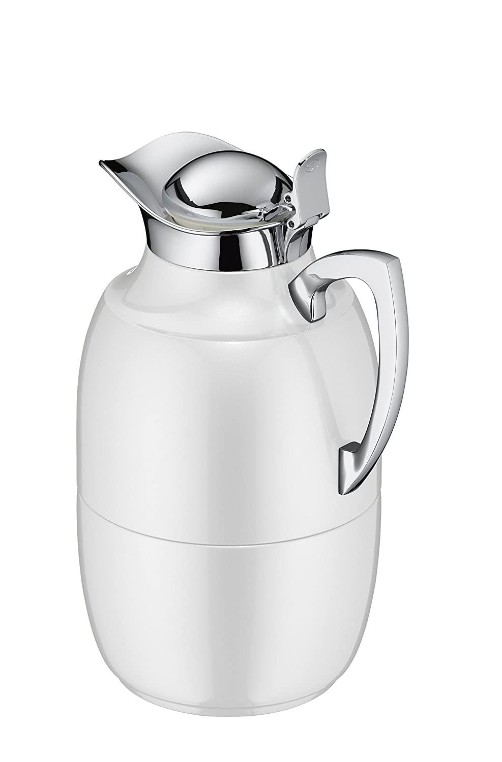Alfi Juwel Thermos Insulating Jug, Stainless Steel, polar weiß, 1 L 0570.219.100
