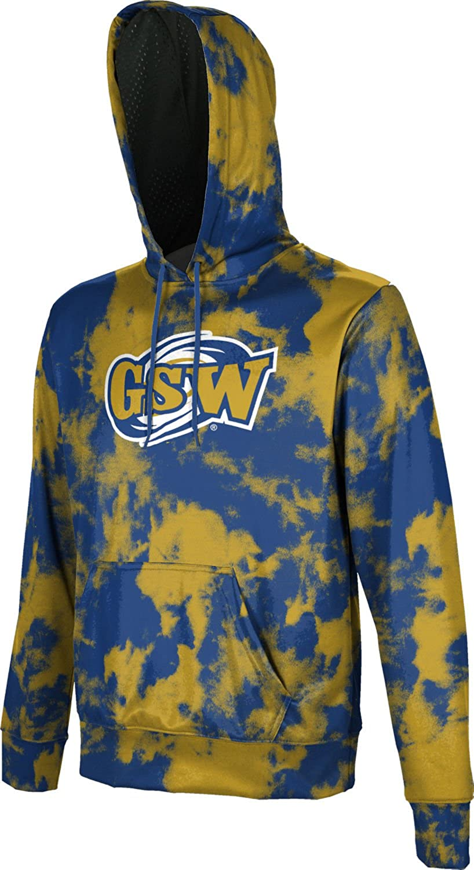 Grunge School Spirit Sweatshirt Middle Georgia State University Mens Pullover Hoodie