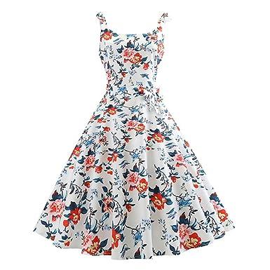 MDOUWoo Casual Polka Dot Dress for Women 50s 60s Vintage Rockabilly Dress Vestido Bow Swing Party