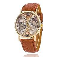 Fashion World Map Watch Leather Women Watches Quartz Watches