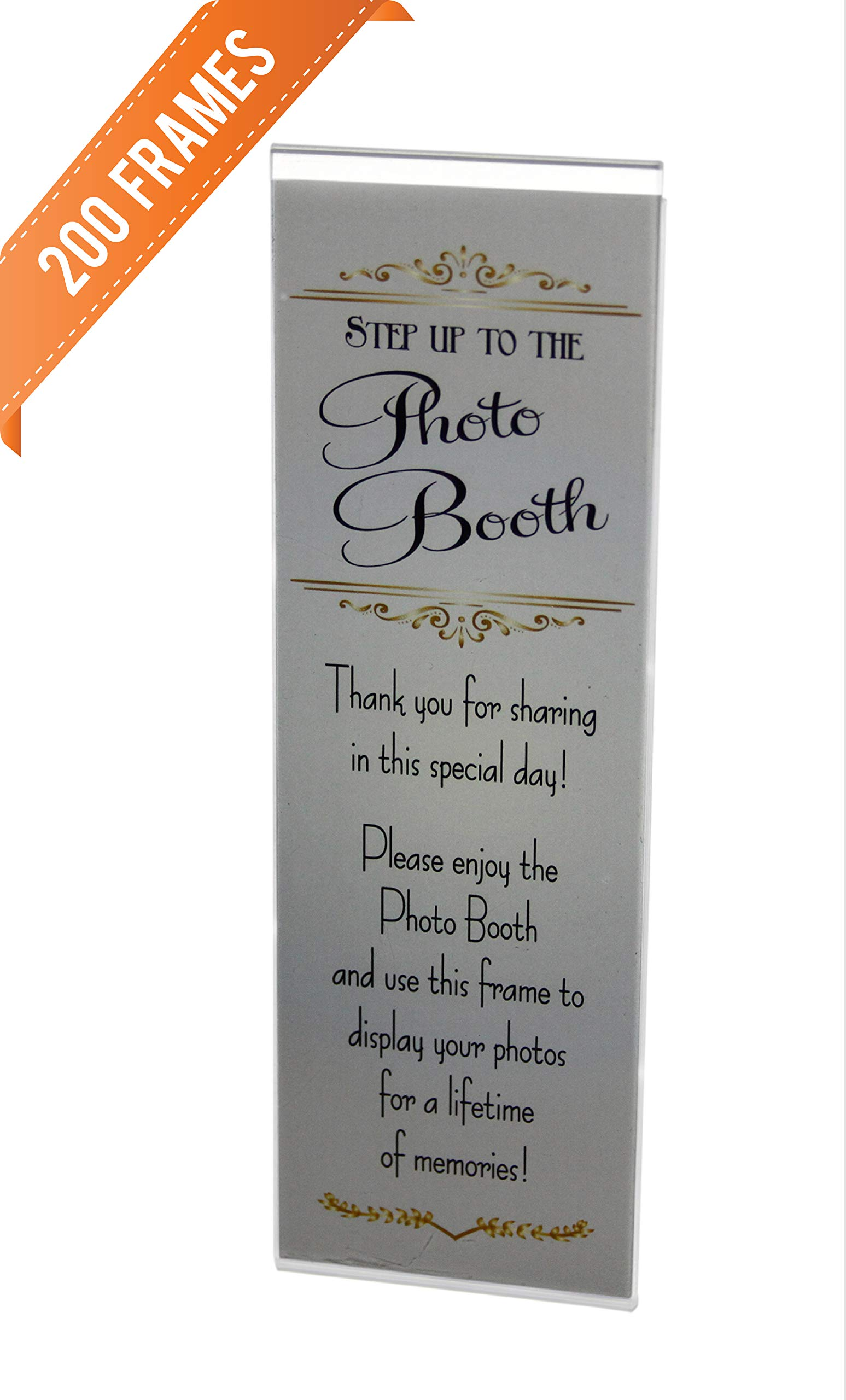 200 Acrylic Magnetic Photo Booth Frames for 2'' X 6'' Photo Strips by Photo Booth Nook