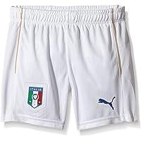 PUMA FIGC Jr Shorts Repl.White Pantalones, Unisex niños