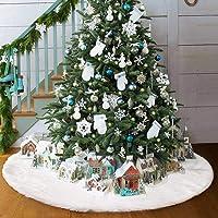 AMADE Jupes de Sapin de Noël Blanches pour la décoration de Noël