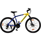 "Hero Octane Endeavour 26T 21 Speed Adult Bicycle - Yellow & Blue(18"" Frame)"