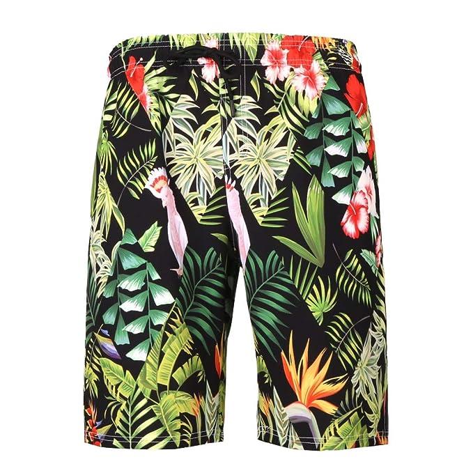 beautyjourney Shorts de Playa de Verano para Hombre Pantalones Cortos de natación Impresos en 3D Bermudas Pantalones Cortos de Deporte de Ocio con Cintura ...