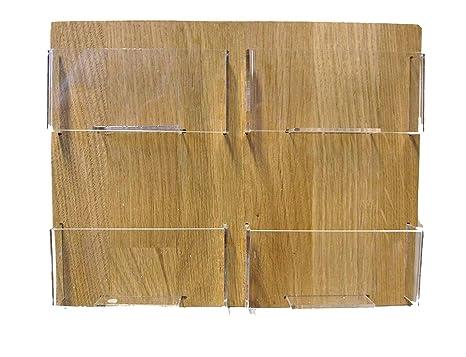 Linlay Intarsien Gravuren Visitenkartenhalter 4 Fächer