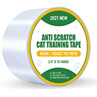 Petslucent Cat Scratch Deterrent Sticky Paws Tape, Cat Training Tape Anti Scratching Furniture Protector, Double Sided…