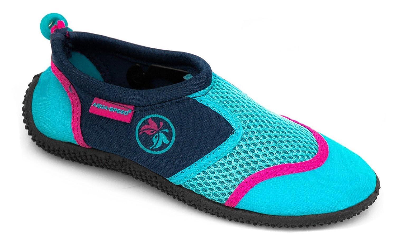 Aqua-Speed Aqua Chaussures 14 + UP®-Porte-clés | Unisexe | Plongée | Piscine | Kayak Aqua Speed