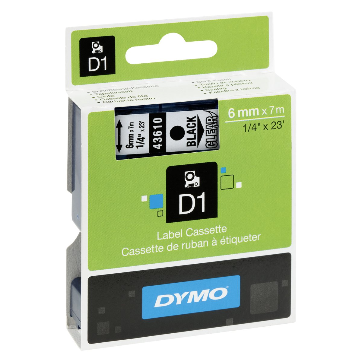 New Dym43610 Dymo D1 Standard Tape Cartridge For Label Makers Name Card Holder Binder 6222
