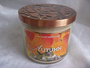 Bath and Body Works Autumn Candle - Autumn Scent 14.5 oz Large 3-wick Candle for Fall