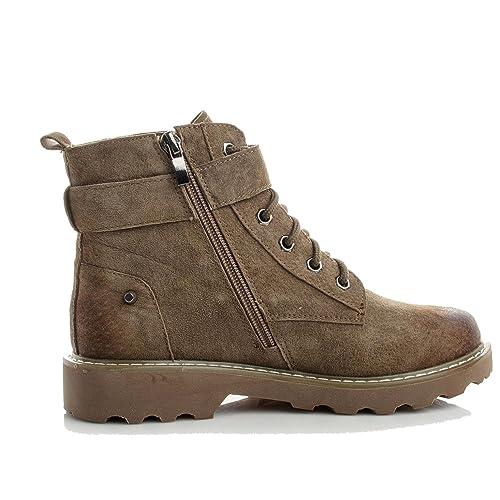 Martin Boots Botines Botas Zapatos JK101202 Zipper Accesorios Moda Mujer,GJDE , 35 , khaki: Amazon.es: Zapatos y complementos