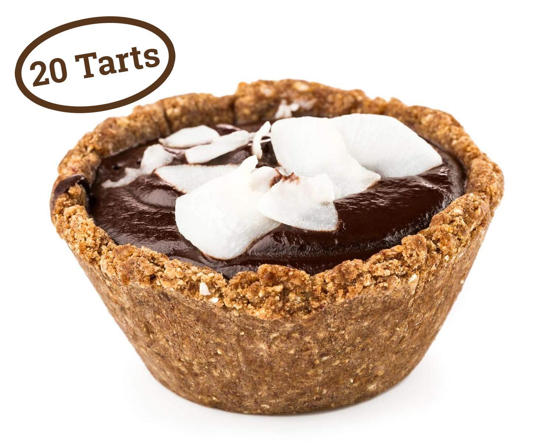 Liberty Loves | Mini tartaletas sabor limón - coco | Paquete de 20 tartas | Listas para comer en el hogar | Ingredientes 100% naturales | Veganas y sin ...