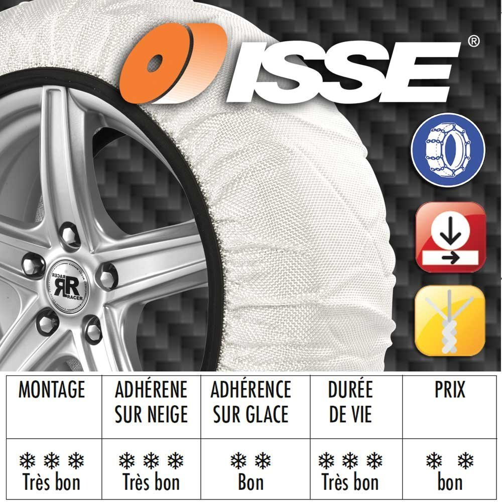 Taille 66 ISSE ISSEC50066 Cha/înes Neige Textile Super