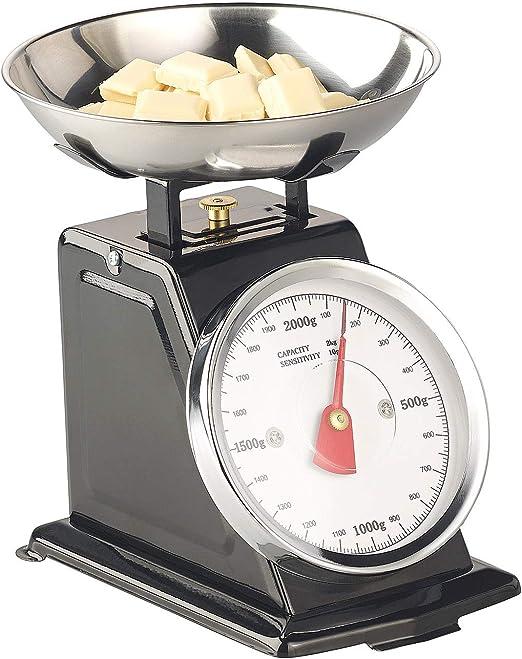 Rosenstein & Söhne - Báscula de cocina analógica, hasta 2 kg, con ...