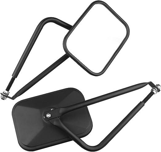 Textured Black PROAUTO Square Doors 4x4 Doorless Wrangler Side Qucik Release Mirrors for Jeep TJ JK-JKU CJ JL-1 Pair 2 Pack Doors off Mirrors