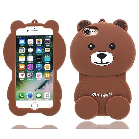 Funda iPhone 6S Plus (5.5 pulgadas),gato suertudo oso de ...