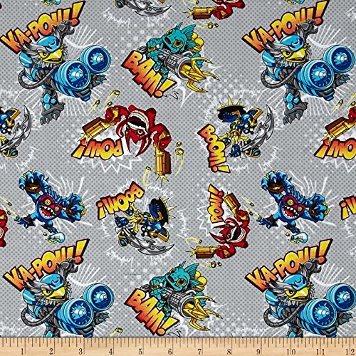 Skylanders Action Stone Fabric By The Yard -
