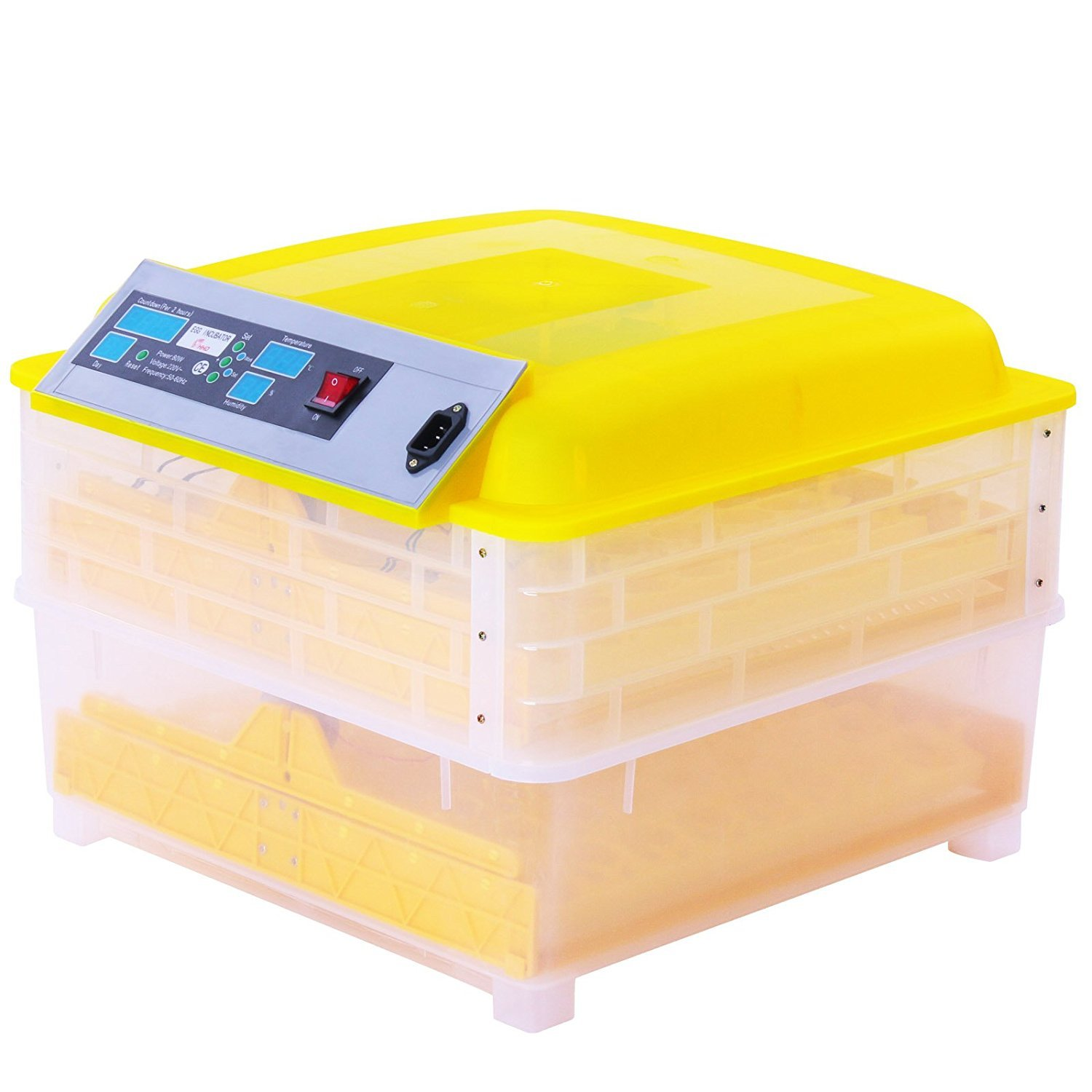 MosaicAL Egg Incubator and Hatcher 96 Eggs Incubators for Hatching Eggs 160W Digital Automatic Turning Poultry Chicken Duck Dove Quail (Yellow)