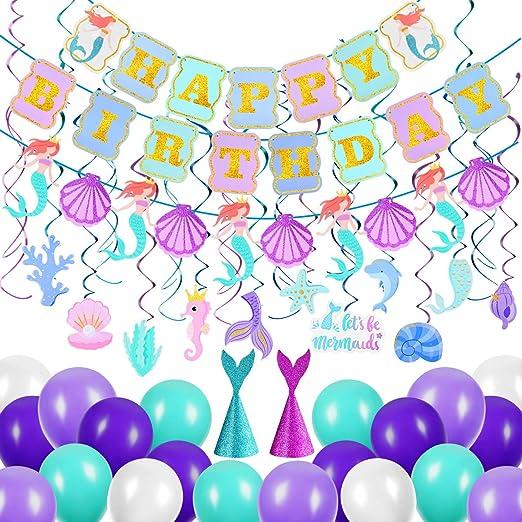Amazon.com: PartyKindom - Banderines de cumpleaños, diseño ...