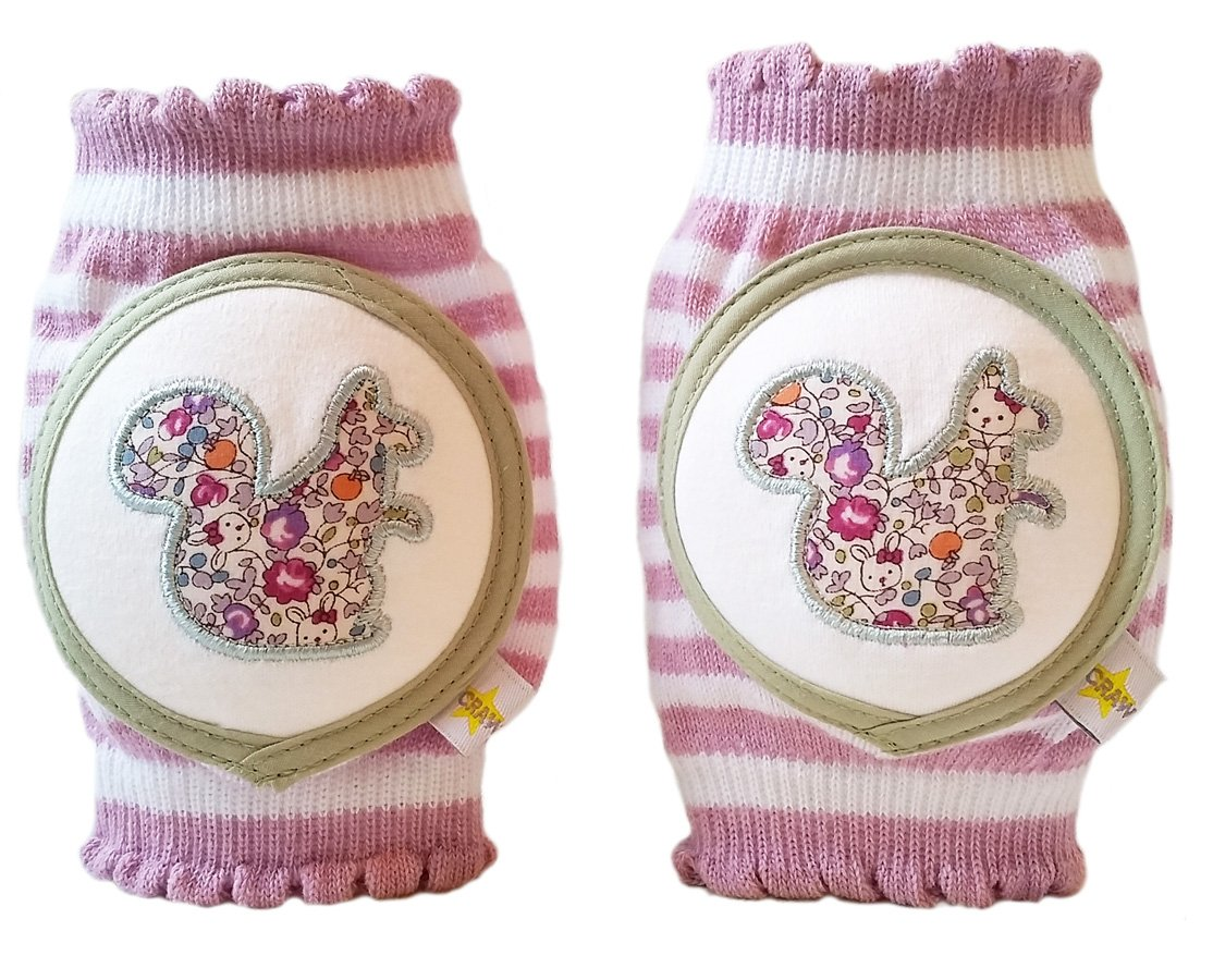 Crawlings Girl's Squirrel Knee Pads One Size Mixed Berries by Crawlings