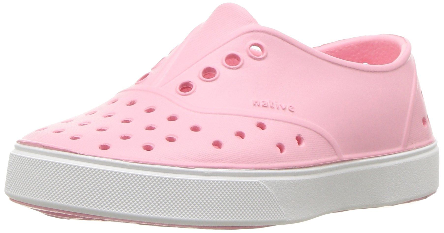 Native baby-girls Miller Water Proof Shoes, Princess Pink/Shell White, 6 Medium US Toddler