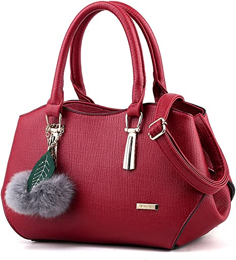 MIMI KING Fashion Womens Purses Shoulder Messenger Handbag PU Leather Large  Capacity Satchel Tote Bag,Burgundy: Amazon.co.uk: Sports & Outdoors