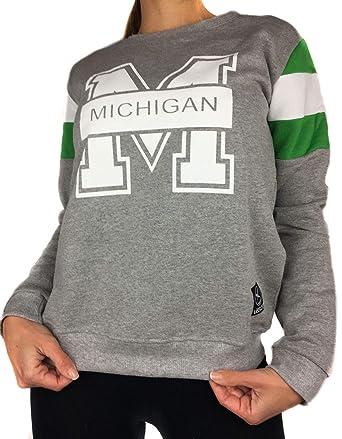 Sudadera de mujer Uissos gris sin capucha Michigan combinada de moda para chica Talla única: Amazon.es: Ropa y accesorios