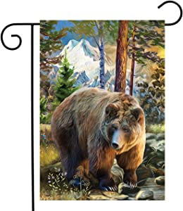 "Briarwood Lane Mountain Bear Summer Garden Flag Outdoors Wildlife 12.5"" x 18"""