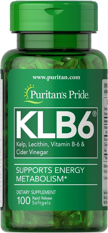 Puritan's Pride KLB6 Kelp Complex-100 Softgels