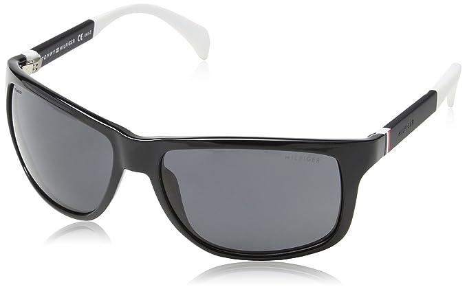 Tommy Hilfiger TH 1257/S TD, Gafas de Sol Unisex, Black White, 59: Amazon.es: Ropa y accesorios