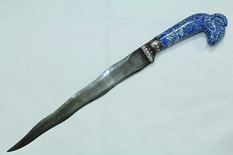 Amazon.com: PH Artistic Dagger cuchillo hoja de acero, azul ...
