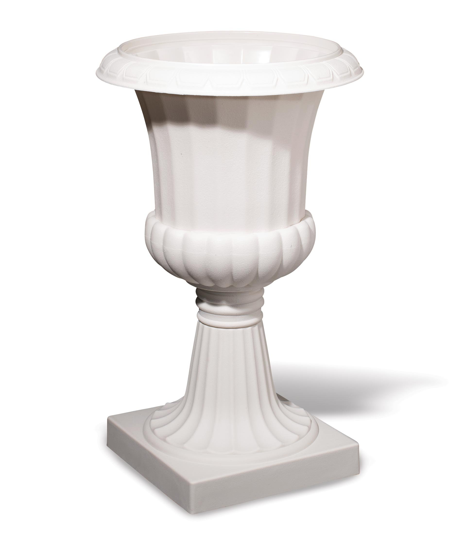 TCDesignerProducts Classic White Decorative Plastic Urn Planter, 19 Inches High Prom Decoration by TCDesignerProducts