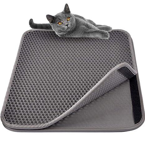 MyfatBOSS Alfombrilla Gato, Accesorios Juguete para Gatos, Alfombra Gato Arenero Esterilla de Gato,