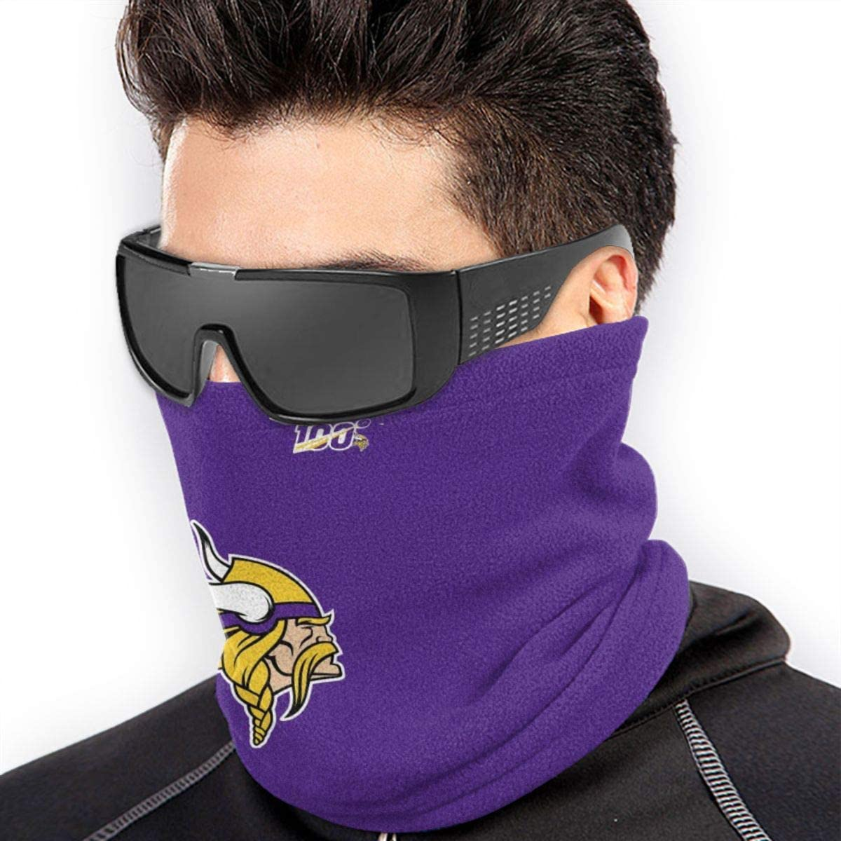 Windproof UV Protection Neck Gaiter Minnesota Vikings Art Print Neck Balaclava Motorcycle Riding Headwear Bandana For Dust