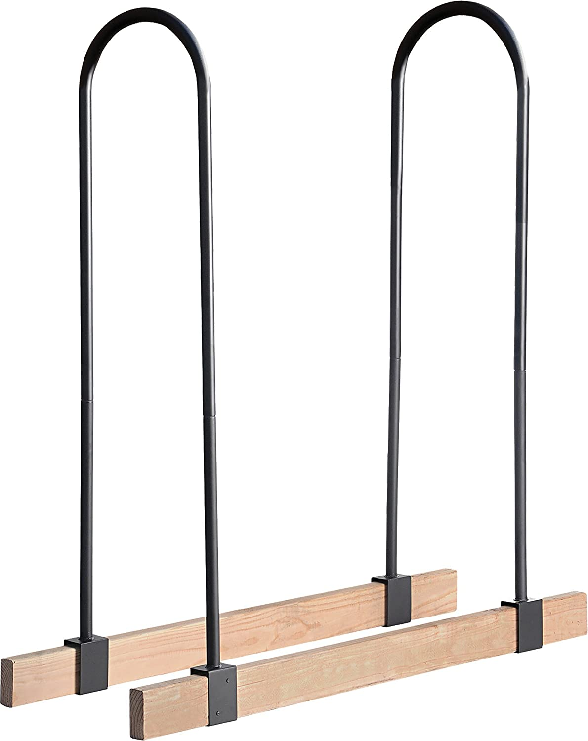 Home-Complete Firewood Storage Rack- Steel Wood Pile Holder for Stacking Cut Logs for Indoor Outdoor Use, Fireplaces, Firepits, Backyard 4 Ft