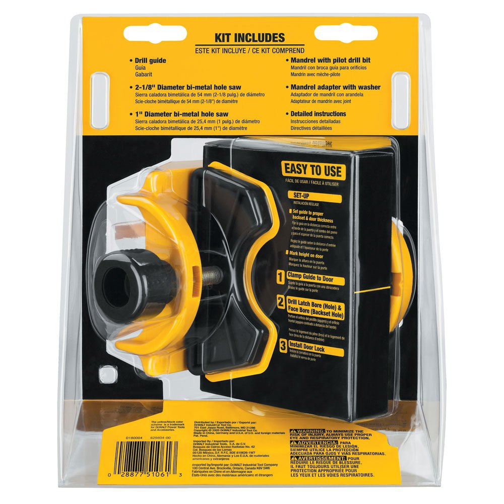 Merveilleux DEWALT D180004 Bi Metal Door Lock Installation Kit   Hole Saws   Amazon.com
