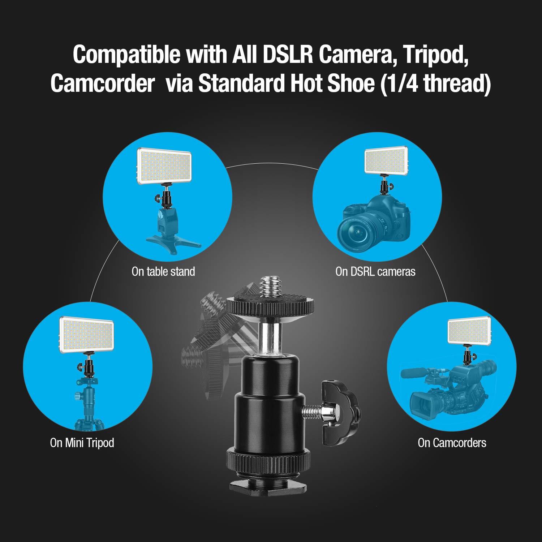 cargador videoc/ámaras tr/ípode 3200K-5600K con bater/ía recargable de 4000 mAh DSLR de Canon 416 LED Nikon Panel de luz de video regulable Enegon CRI95 zapata +4 filtros de color para c/ámaras