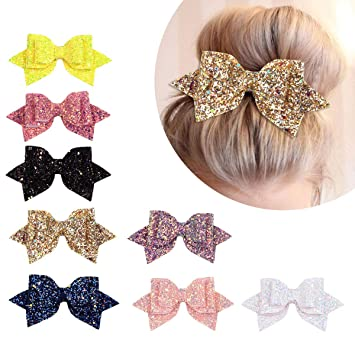 Cute Bling Shiny Hair Accessories Baby Hair Clip Hairpin Bow Knot Sequined