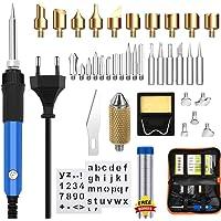 Kit de chauffage au bois, Mcwdoit 37Pcs Kit de température réglable pour brûler la pyrogravure au stylo-60W pour la gravure d'outils de gravure sur bois