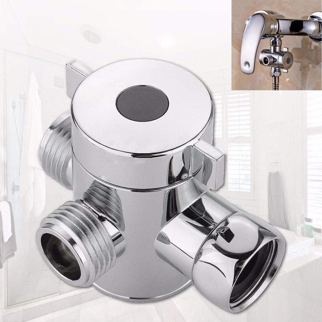 Bathroom Diverter Valve G1//2 for Solid Brass 3-Way Shower Arm Diverter Valve Handshower