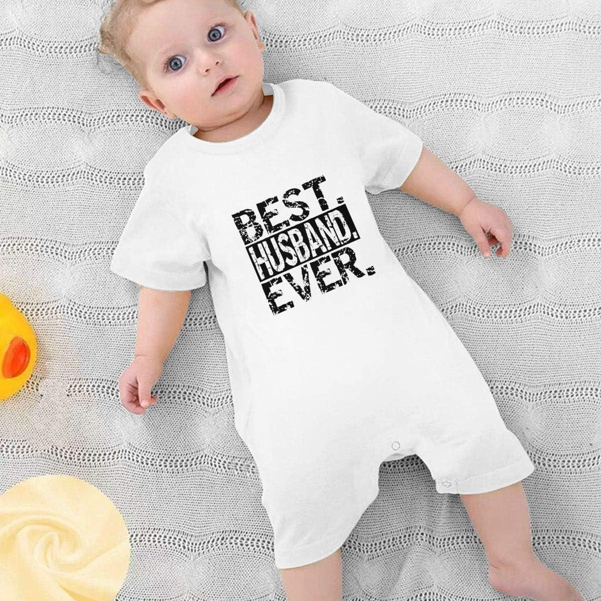 Sherrygeoffrey Best Husband Ever Boy Girls Bodysuit Warm Onesies Infant White
