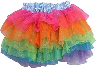 BESTOYARD Vestido de un tutú de Unicornio arcoíris Falda de tutú ...