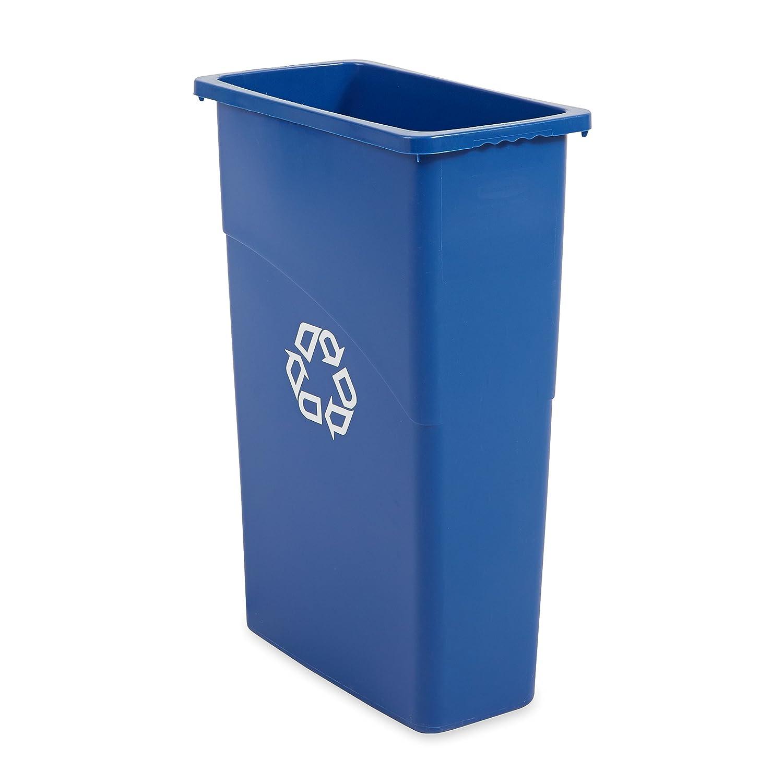 Amazon.com: Rubbermaid Slim Jim Waste Container, 87 L - Blue ...