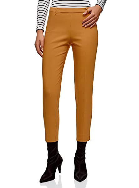 a9cf1c04446fdd oodji Collection Donna Pantaloni Stretti con Zip Laterale: Amazon.it:  Abbigliamento