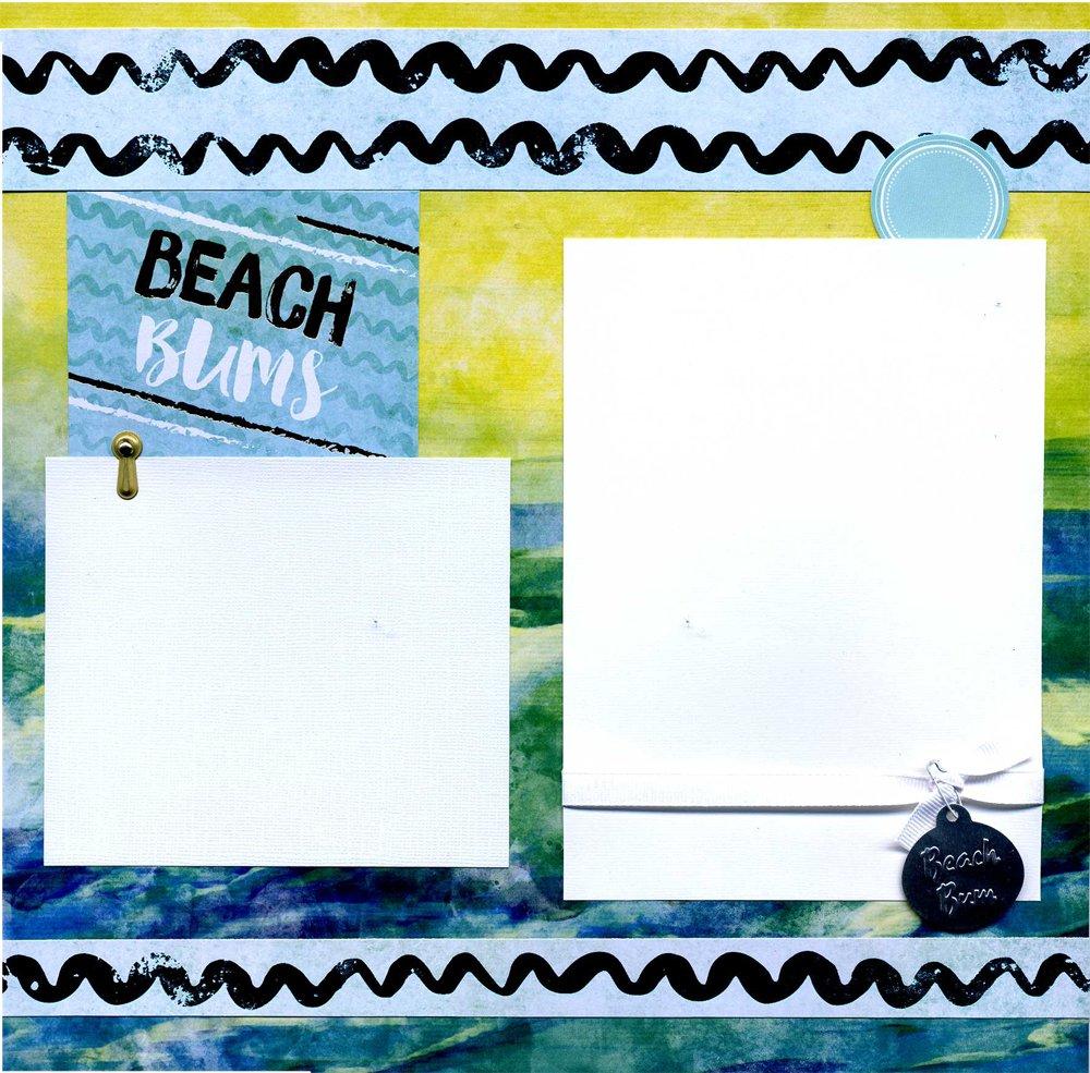 Beach Bums - Premade Scrapbook Page by Susan's Scrapbook Shack, LLC
