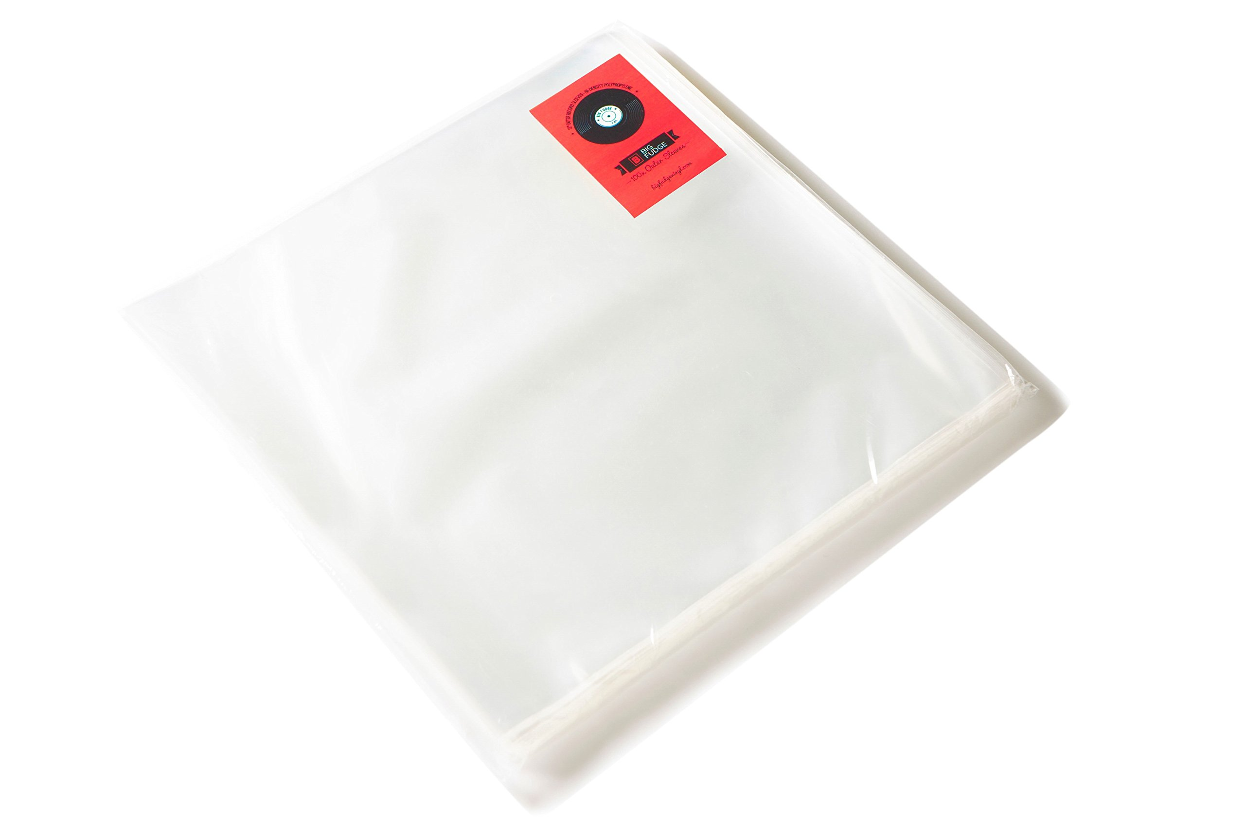100x Vinyl Record Outer Sleeves, 12'' LP - Crystal Clear, Not Cloudy, No Wrinkles! The Best Protection for Your Collection!